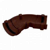Угол желоба/120 универ., коричневый Holzplast