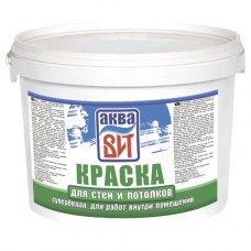 """Краска АкваВИТ для стен и потолков супер-белая (вдкч """"н""""-201) 13 кг"""