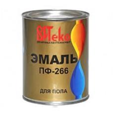 Эмаль для пола ПФ-266 ВИТЕКО Красно-коричневая 1,8 кг.