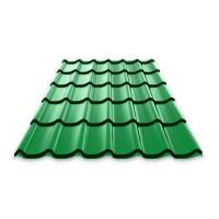 Металлочерепица «Монтеррей», Лиственно-зеленый (RAL 6002), полиэстр
