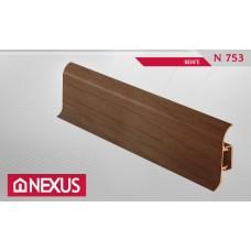 Плинтус с мягким краем и кабель-каналом (58 мм) - Венге