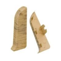 Заглушка торцевая левая к плинтусу Nexus, дуб беленый