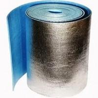 Вспененный полиэтилен СЛ-8  c оодносторонним ламинированием металлизированной пленкой (лавсан) и клеевым слоем