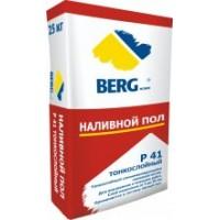 Наливной пол Р41 тонкослойный BERGhome, 25кг