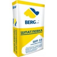 Шпатлевка ШП23 гипсовая белая BERGhome 30 кг