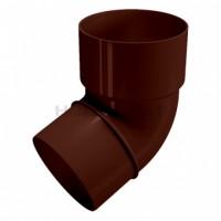 Колено трубы/120 Ø80. 67°, коричневый Holzplast