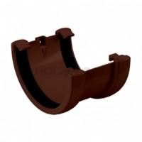 Соединитель желобов/120, коричневый Holzplast