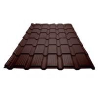Металлочерепица «Каскад», Шоколадно-коричневый (RAL 8017), полиэстр
