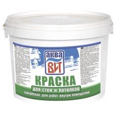 """Краска АкваВИТ для стен и потолков супер-белая (вдкч """"н""""-201) 1,3 кг"""