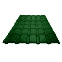 Металлочерепица «Каскад», Лиственно-зеленый (RAL 6002), полиэстр