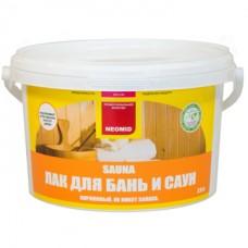 Лак для бань и саун NEOMID SAUNA - 2,5 л
