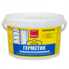 Герметик строительный NEOMID ТЕПЛЫЙ ДОМ Wood Professional - 3 кг для колеровки