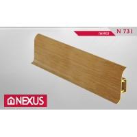 Плинтус с мягким краем и кабель-каналом (58 мм) - Лаурел