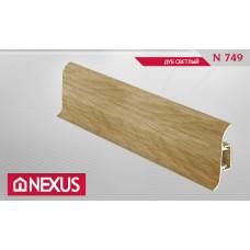 Плинтус с мягким краем и кабель-каналом (58 мм) - Дуб светлый