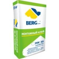 Клей монтажный МК30 газобетон BERGhome зимний, 25кг